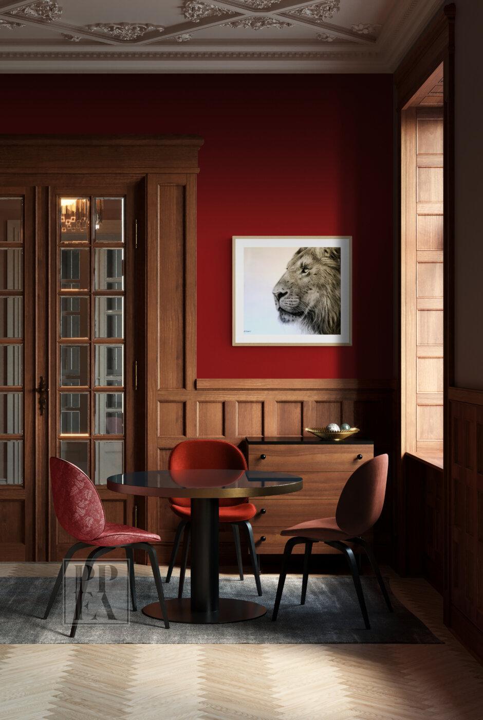 Vintage oak paneled bar room