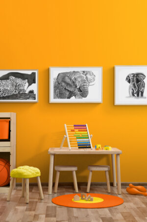 Stylish children`s playroom with toys